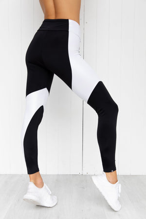 Unicorn Asymmetrical Block Midi Legging - PURE DASH
