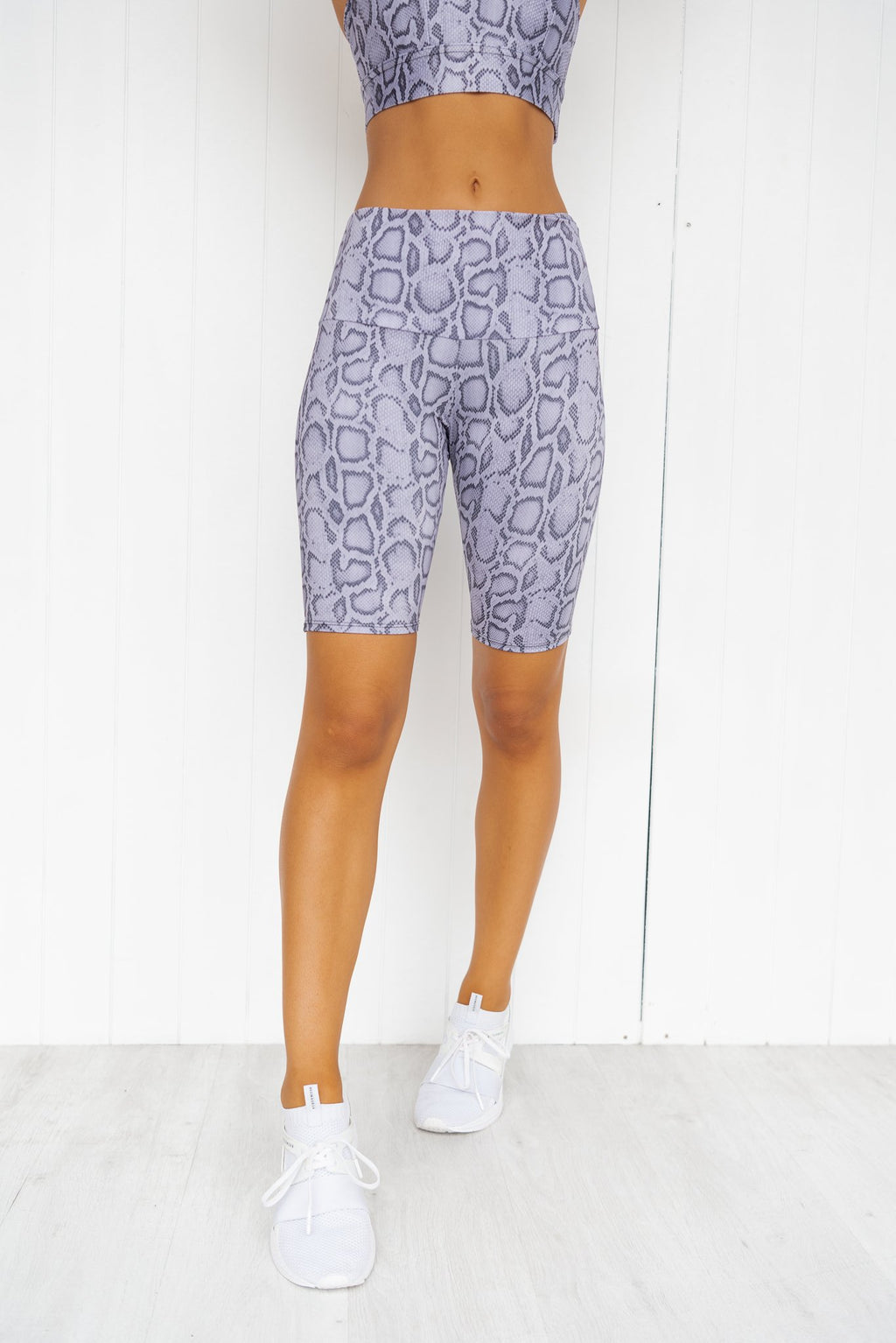 High Rise Bike Short - Lavender Cobra - PURE DASH