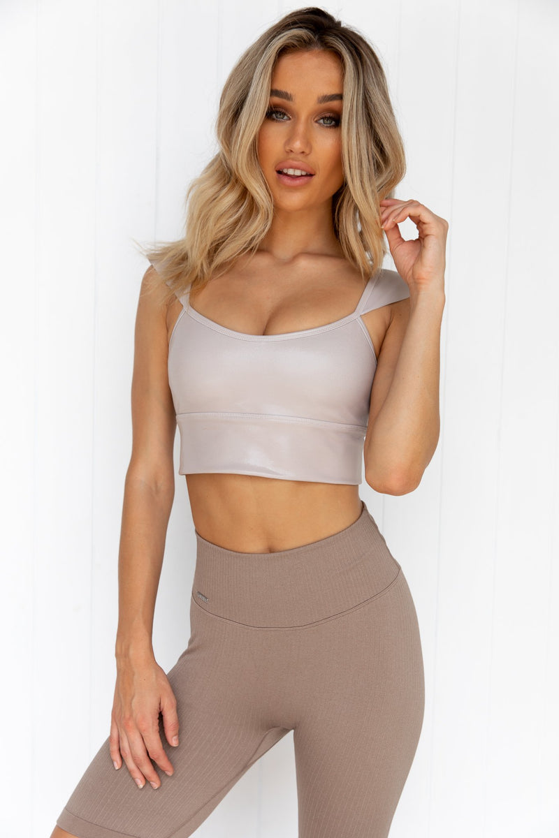 Cappuccino Shine On Cap Sleeve Bra - PURE DASH