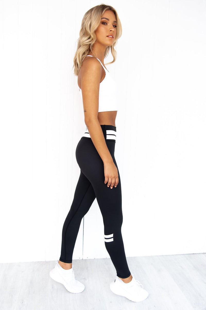 Line Up Tights - Black/White - PURE DASH