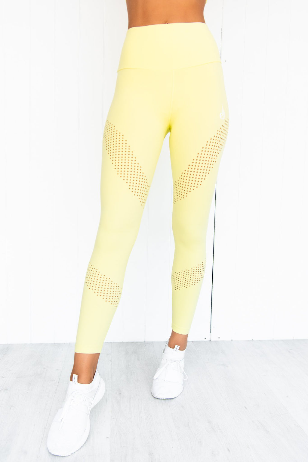 Pastels High Waisted Leggings - Lemon - PURE DASH