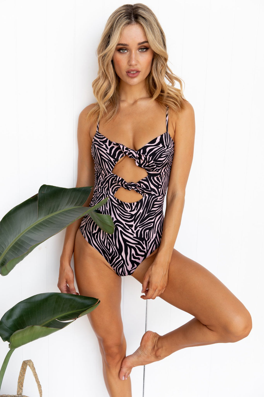 Mia Double Tie One Piece - Zebra - PURE DASH