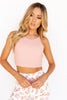 Anna Ribbed Tank - Pink - PURE DASH