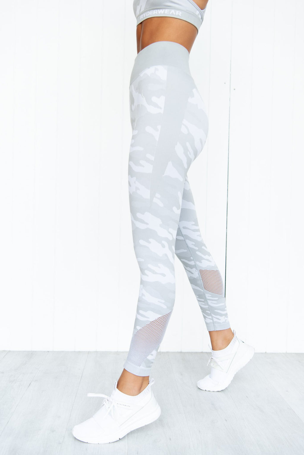Seamless Tights - Grey Camo - PURE DASH
