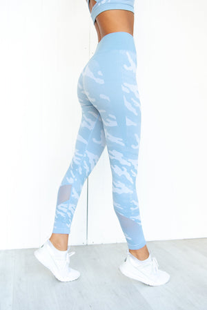 Seamless Tights - Blue Camo - PURE DASH
