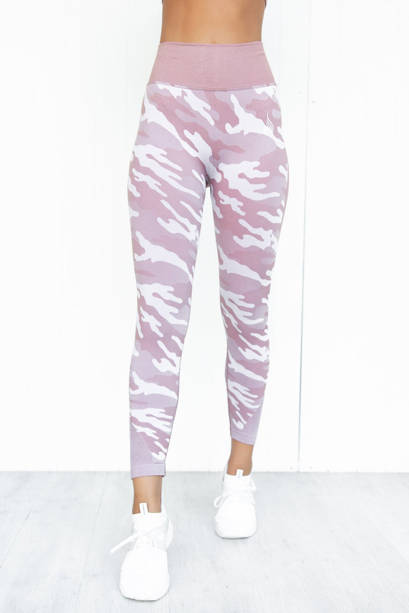 Seamless Tights - Dusty Pink Camo - PURE DASH