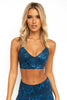 Ana Denim Floral Sports Bra - PURE DASH