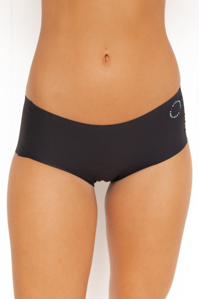 Invisible Active Undies: Buddhi Briefs - Black - PURE DASH