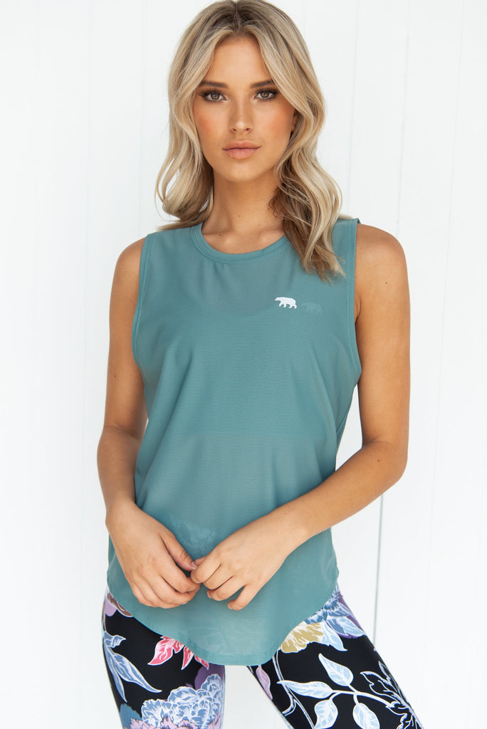 Dial Up Workout Tank - Sage