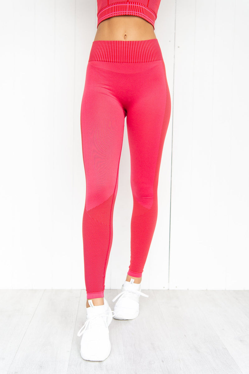 Shake It Seamless Leggings - Hot Pink - PURE DASH