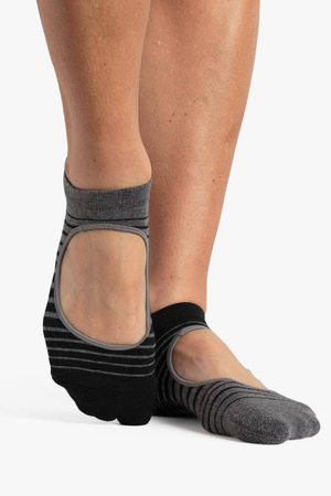 Ruby Grip Sock - Black Grey - PURE DASH