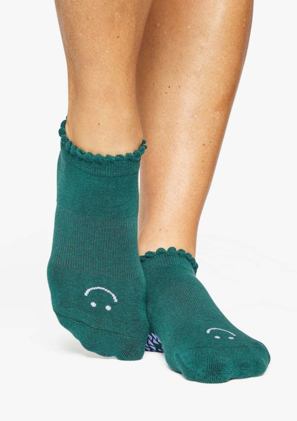 Happy Grip Sock - Dark Green