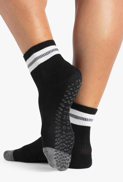 Sara Grip Sock - Black/Charcoal