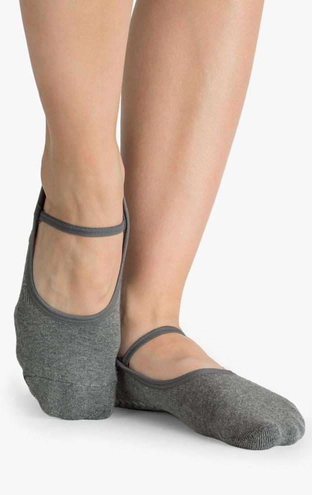 Karina Grip Sock - Charcoal - PURE DASH