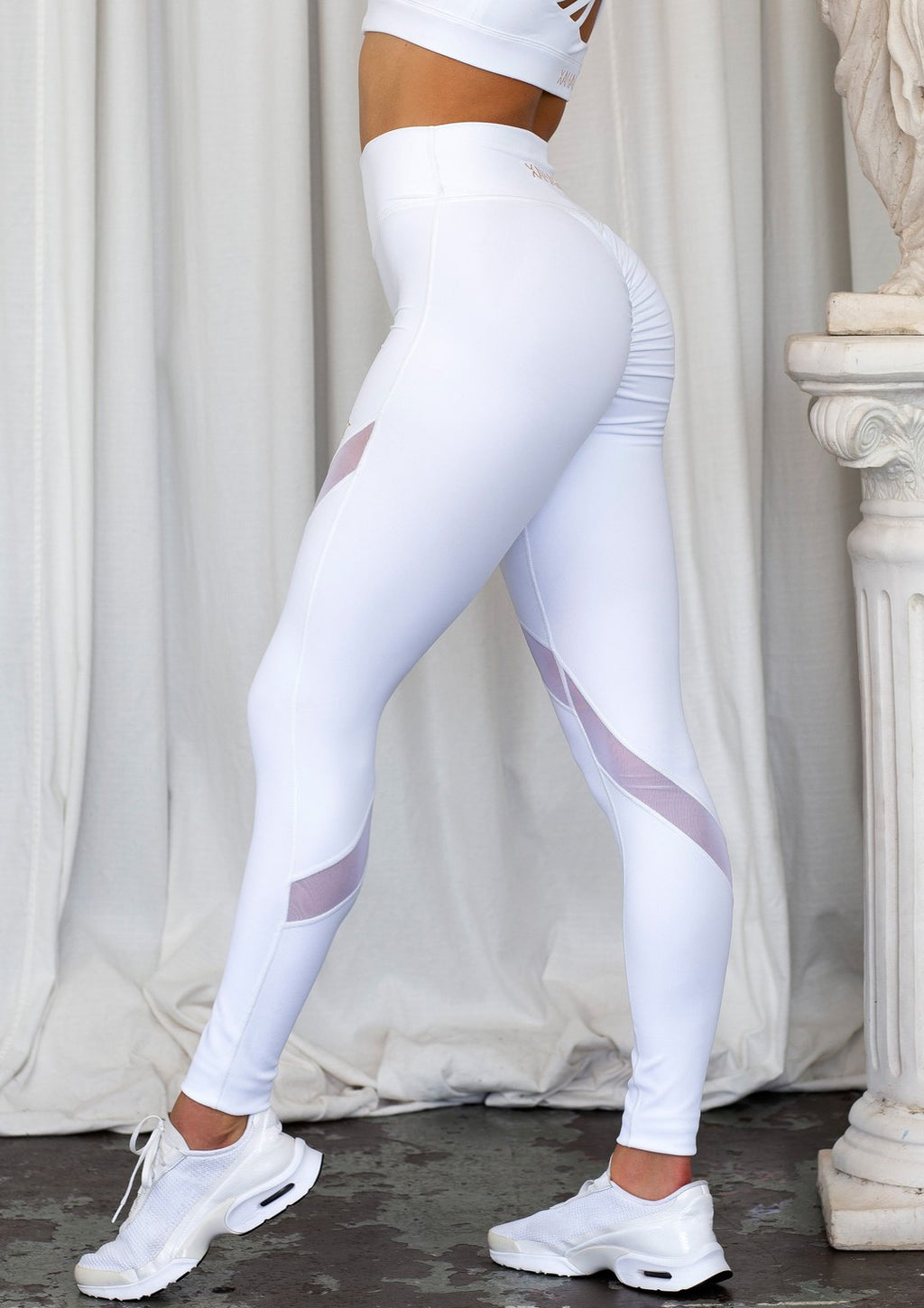 Bootylicious Luxe White Ribbed Legging