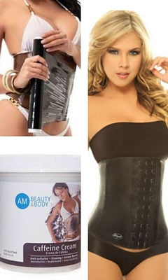 Mommy Make Over Bundle (2023 Abdominal Waist  Cincher+ Caffeine Cream+Osmotic Wrap)+ Free USA Shipping(Customers Favorite)