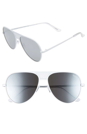 Quay Australia - #QUAYxKYLIE Iconic 60mm Aviator Sunglasses - White