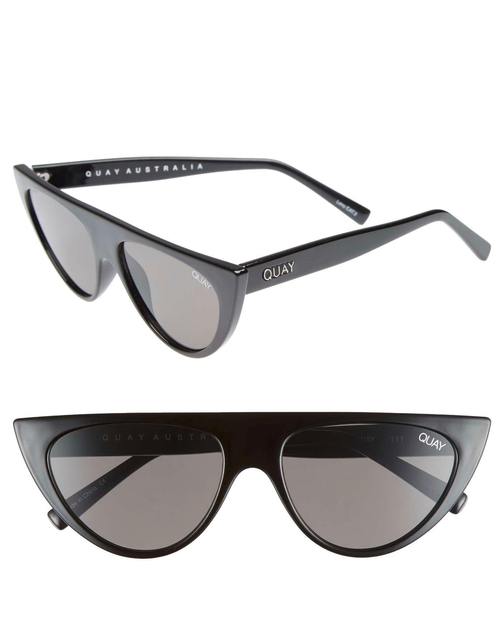 Quay Australia x sofia richi - run away 56mm shield sunglasses - black/smoke