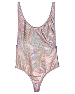 Final Sale - Dippin Daisys - Low Back Thong One Piece Metallic Bikini - More Colors