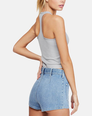 Free People Hayley Brami Crop Tank Top in Grey