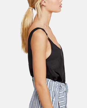 Free People - Carly O-Ring Scoop Back Tank Top - Black