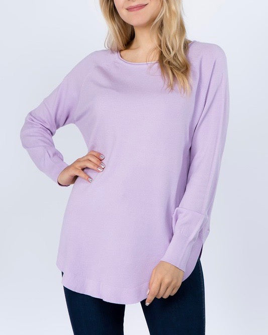 Dreamers - Shirttail Hem Sweater in More Colors