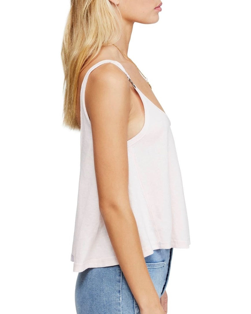 Free People - Carly O-Ring Scoop Back Tank Top - Pink