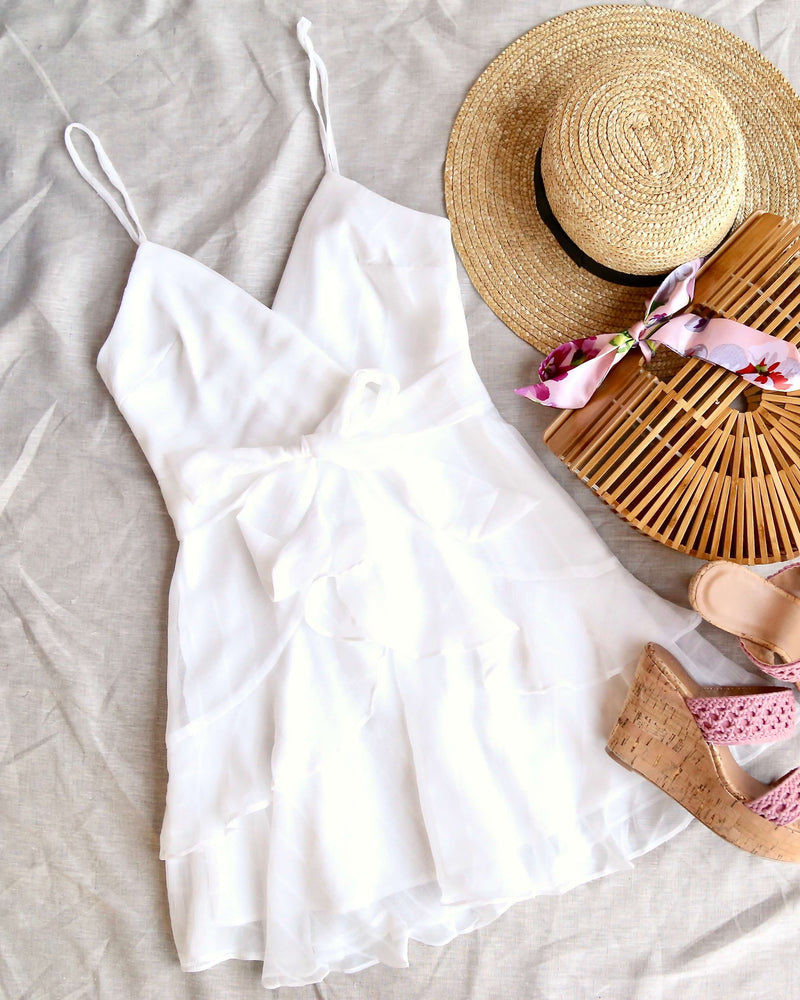 Keep it a Secret - Tiered Ruffle Romper - White