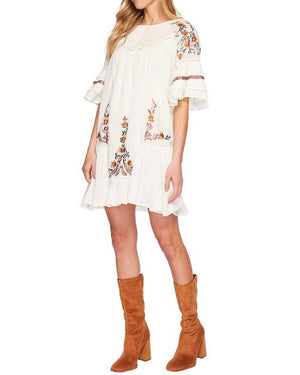 free people - pavlo cotton embroidered mini dress - more colors