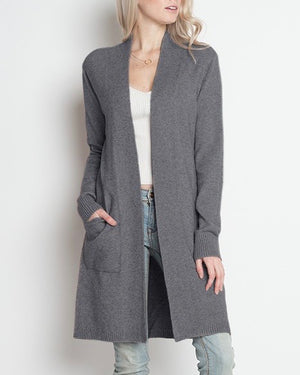 dreamers - coatigan with pockets - grey