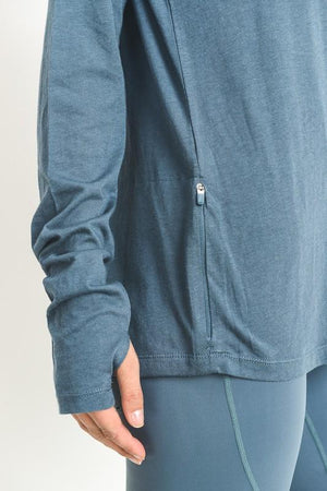 active hearts - hoodie with zipper pocket - light teal blue
