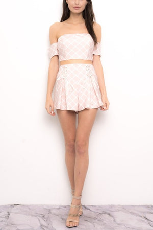 FINAL SALE - When in Rome Two Piece Set in Blush
