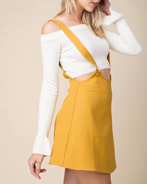 honey belle - overall skater dress - yellow