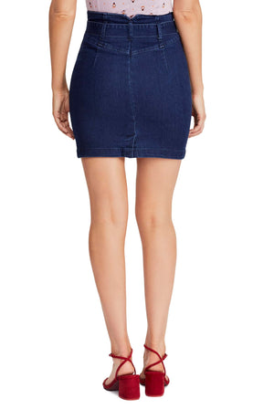 Free People - Livin It Up Denim Pencil Mini Skirt - Denim Blue
