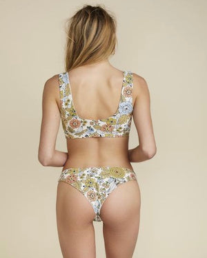 Final Sale - Alexis Seamless Bikini Bottom in 60's Floral