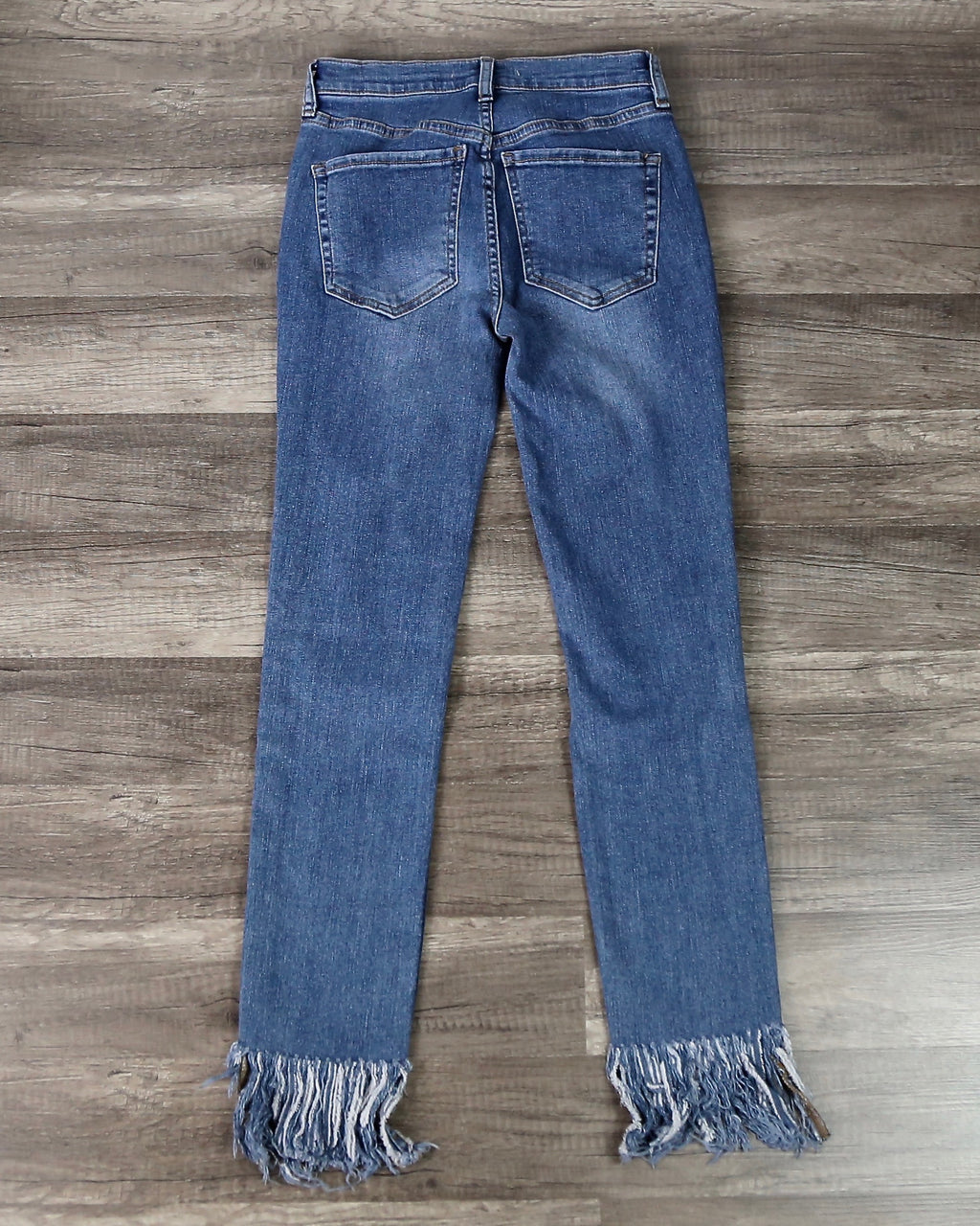 Free People - Great Heights Frayed Skinny Jeans in Worn Indigo