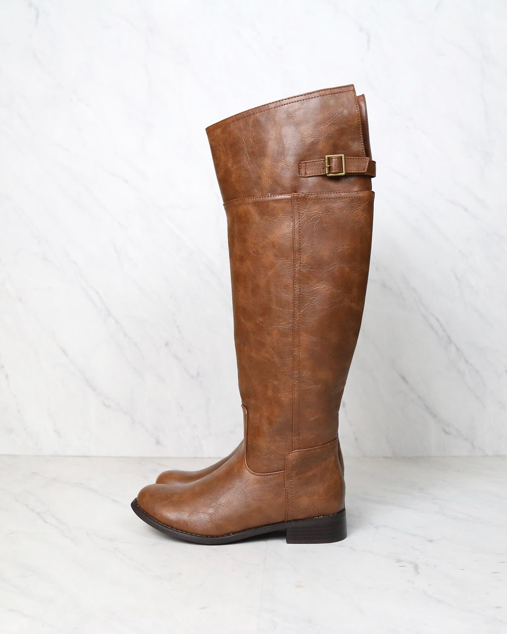 Rider's Women's Distressed Tall Riding Boots in Tan