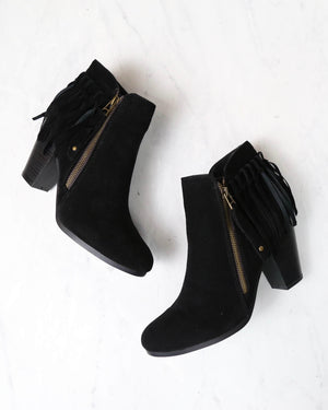 boho fringe ankle booties - more colors