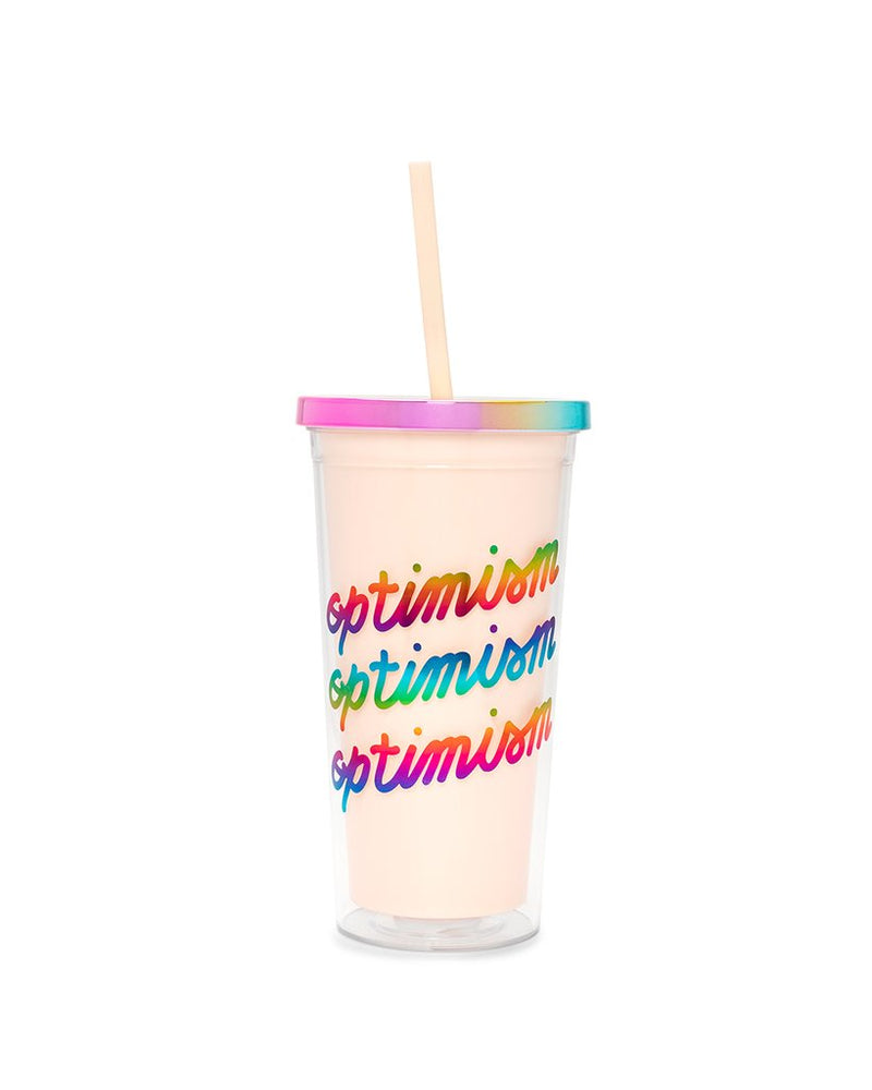 Ban.Do - Deluxe Sip Sip Tumble with Straw in Optimism