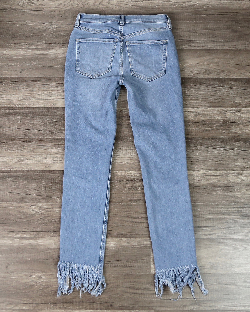 Free People - Great Heights Frayed Skinny Jeans in Regal Blue
