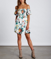 summer moves smocked dress - tropical print
