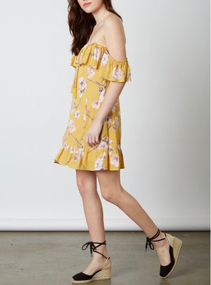 cotton candy la - love or lust off the shoulder floral dress - honey