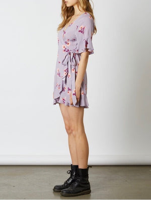 Final Sale - Cotton Candy La - Best Buds Wrap Dress - Lilac