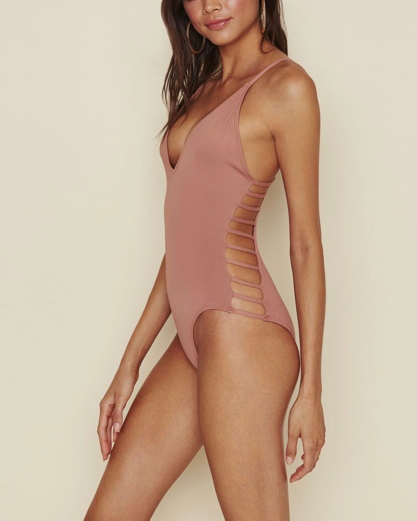 Caged Side Moderate Coverage One-Piece - more colors