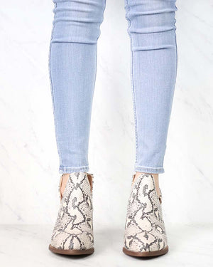 Chinese Laundry - Caring Snake Print Ankle Booties