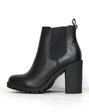Chunky Heel Chelsea Booties - More Colors