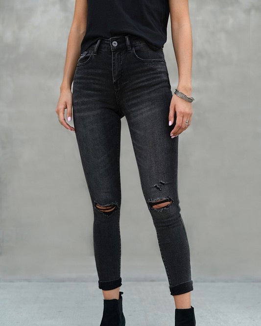 shophearts, skinny jeans, high rise skinny jeans, faded dark jeans