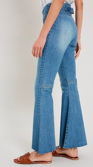 Denim High-Waist Flare Jeans