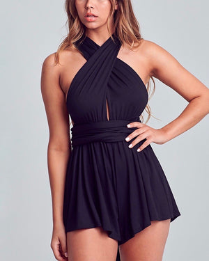 Independent Woman Multi Wear Romper in Black