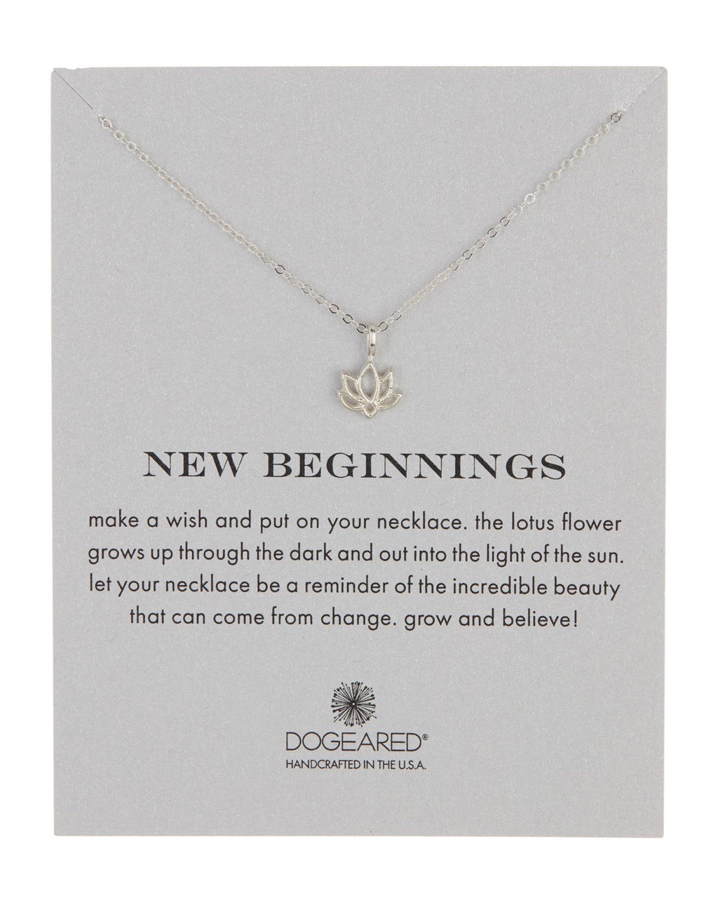 Dogeared - Reminder New Beginnings Necklace in Sterling Silver